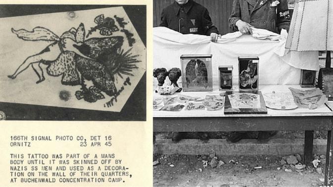 Barang-barang milik Ilse Koch yang konon dibuat dari kulit manusia (Wikipedia/Public Domain)