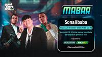 Main bareng GTA V bersama Sonalibaba, Minggu (27/12/2020) pukul 19.00 WIB dapat disaksikan melalui platform streaming Vidio, laman Bola.com, dan Bola.net. (Dok. Vidio)