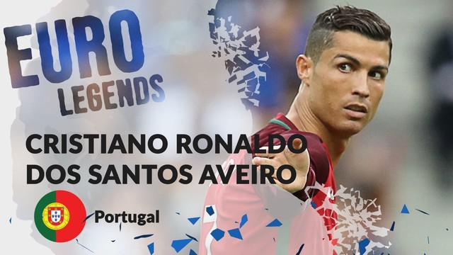 Berita motion grafis profil legenda Cristiano Ronaldo, top skorer sepanjang masa Portugal.