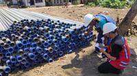 Kementerian PUPR terus mempercepat pelaksanaan rehabilitasi dan rekonstruksi infrastruktur pasca bencana banjir bandang akibat Badai Siklon Tropis Seroja awal April 2021 di Nusa Tenggara Timur (NTT). (Dok Kementerian PUPR)