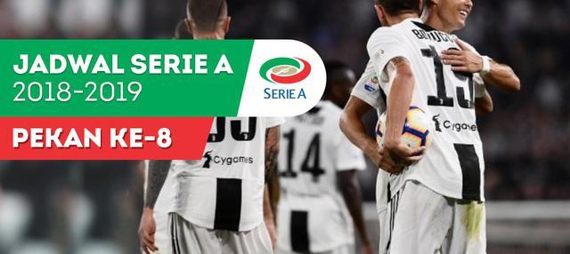 Berita video jadwal Serie A 2018-2019 pekan ke-8. Juventus tantang Udinese, Sabtu (6/10/2018) di Dacia Arena, Udine.