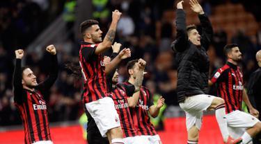 Taklukkan Sassuolo, AC Milan Depak Inter dari Posisi Tiga Besar