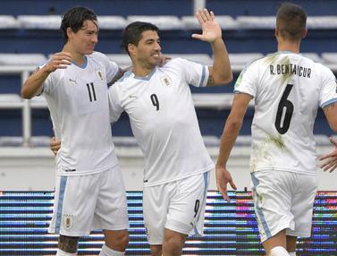 Luis Suarez dan Cavani Cetak Gol, Uruguay Hajar Kolombia 3-0