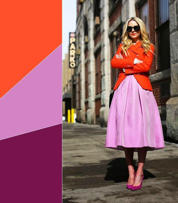 Style Tips Tabrak Warna Ala Fashionista Di 2018 Fashion Fimela Com