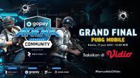 Live Streaming Grand Final GoPay Arena Level Up Community PUBG Mobile di Vidio, Kamis 17 Juni 2021. (Sumber : dok. vidio.com)