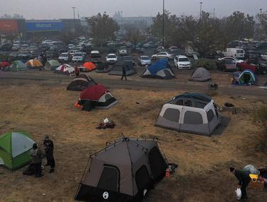 Pengungsi Korban Kebakaran California