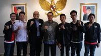 Tim PES 2019 Indonesia, yang akan berlaga di Kejuaraan Dunia PES 2019, di London, Inggris. (FOTO / Ist)