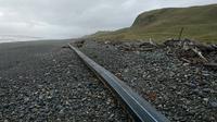 Benda 'misterius' sepanjang 100 meter yang ditemukan di pantai Selandia Baru (Facebook/Environment Southland)