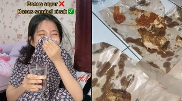 Bikin Mual, Gadis Ini Temukan Cicak Mati di Sambal Pecel Ayam yang Dibelinya