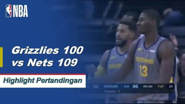 D'Angelo Russell berakhir dengan 23 poin dan 10 assist saat Nets memberi Grizzlies kekalahan keempat beruntun mereka.