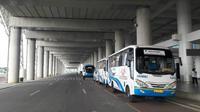 Bus Damri di Bandara Kertajati (Foto: Liputan6.com/Bawono Y)