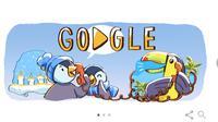Google doodle menyambut liburan akhir tahun (Liputan6.com/ Agustin Setyo W)