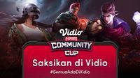 Jadwal dan Live Streaming Vidio Community Cup Ladies Season 3 Free Fire Series 3 di Vidio, Rabu 28 Juli 2021. (Sumber : dok. vidio.com)