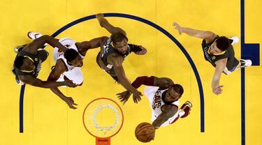 Berikut 5 pemain dengan jumlah penampilan terbayak di babak Playoff NBA. (Foto: Getty Images via AFP/Ezra Shaw)