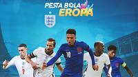 Piala Eropa - Ilustrasi Timnas Inggris (Bola.com/Adreanus Titus)