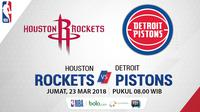 Houston Rockets Vs Detroit Pistons (Bola.com/Adreanus Titus)