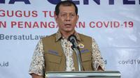 Di Graha BNPB, Jakarta, Jumat (3/4/2020), Ketua Pelaksana Gugus Tugas Percepatan Penanganan COVID-19 Doni Monardo apresiasi kades dan lurah yang terapkan isolasi mandiri warganya. (Dok Badan Nasional Penanggulangan Bencana/BNPB)