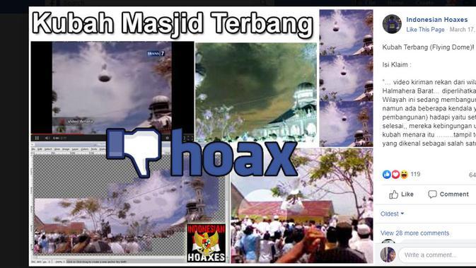 Cek Fakta - Video kubah masjid terbang di Nepal (Facebook)