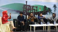 Diskusi Memaknai Sumpah Pemuda  digelar di Media Center Gedung Nusantara III, Jakarta, Senin (28/10).
