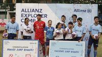 Para pemenang seleksi yang beruntung akan terbang ke Jerman dan Singapura untuk mengikuti Allianz Explorer Camp 2019. (Bola.com/Vitalis Yogi Trisna)