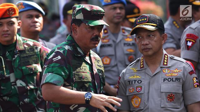 TNI dan Polri Gelar Apel Pengamanan Pilpres 2019