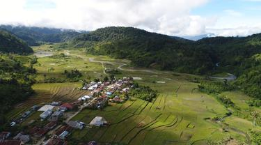 foto udara Desa Ngata Toro, Sigi