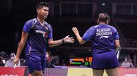 Ganda campuran Indonesia Praveen Jordan / Melati Daeva Oktavianti lolos ke perempat final Thailand Open 2021 di Impact Arena, Bangkok. (foto: [12:03, 1/14/2021] Achmad Yani: BWF-limited acces)