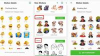 Stiker WhatsApp. Dok: maketecheasier.com