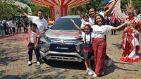 Campaign Xpander Tons of Real Happiness yang digelar di sembilan kota besar di Indonesia. (Herdi/Liputan6.com)