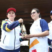 Persinggahan kirab obor Asian Games di Blitar dapat dijadikan pengingat kembali kebanggaan Indonesia yang pernah menjadi Tuan Rumah penyelenggaran Asian Games pada 56 tahun lalu.