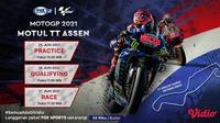Link Live Streaming MotoGP 2021 Belanda di Vidio, Minggu 27 Juni. (Sumber : dok. vidio.com)