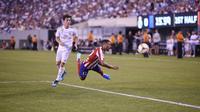 Real Madrid hancur lebur lawan Atletico Madrid di ICC 2019 (JOHANNES EISELE / AFP)