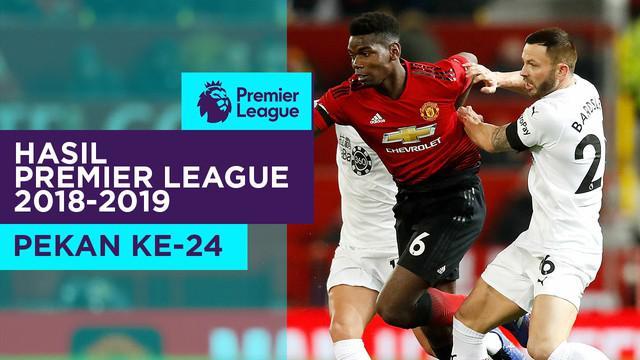 Berita video hasil Premier League 2018-2019 pekan ke-24, Kamis (31/1/2019). Burnley tahan Manchester United, Chelsea kalah 4-0 dari Bournemouth.