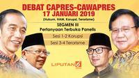 Segmen III Debat Perdana Capres-Cawapres 2019.(Www.sulawesita.com)