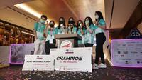 Belletron Era mengalahkan Evos Lynx di grand final Piala UniPin Ladies Series MLBB 2021 dengan skor ketat 3-2. (dok. Belletron Era)