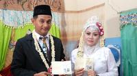 Vico Rahman si Mr Bean Indonesia menikah dengan wanita bernama Elisa. (Istimewa)