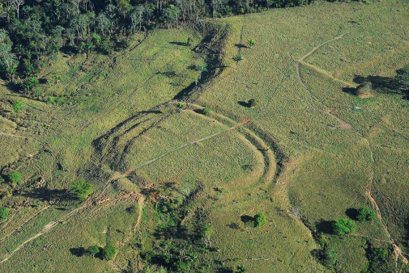 Geoglif tersembunyi di Amazon Brasil (AFP)