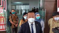 Menteri Kelautan dan Perikanan Edhy Prabowo saat diwawancarai di kampus Unsrat Manado, Selasa (20/10/2020).
