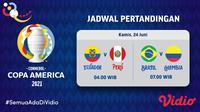 Saksikan, Link Live Streaming Copa America 2021 di Vidio Selasa 22 Juni 2021. (Sumber : dok. vidio.com)