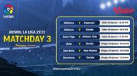 Jadwal dan Link Live Streaming La Liga Spanyol Pekan Ketiga di Vidio, 28 dan 29 Agustus 2021. (Sumber : dok. vidio.com)