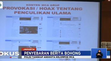 Dilaporkan, kelompok ini kerap menyebarkan berita bohong lewat ratusan ribu anggota terkait isu sara, PKI, penyerangan ulama oleh orang gila, hingga fitnah terhadap pejabat pemerintahan.