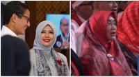 Nur Asia, istri Sandiaga Uno dan Wury Estu Handayani, istri Ma'ruf Amin. (dok. Istimewa)