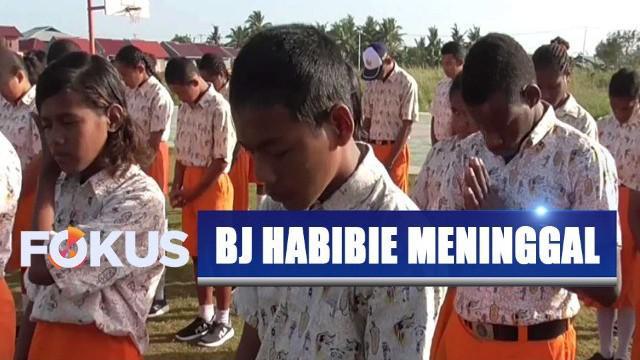 Baik guru dan siswa di sekolah ini memohon agar arwah alamarhum Habibie diterima di sisi Allah SWT.