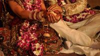 Ilustrasi pernikahan di Delhi, India. (Sumber Wikimedia)