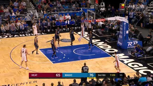Berita video game recap NBA 2017-2018 antara Miami Heat  melawan Orlando Magic dengan skor 117-111.