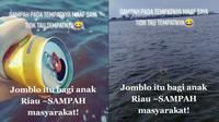 Viral Cewek Buang Sampah di Laut Demi Konten, Banjir Komentar (sumber: TikTok niitadiita69)