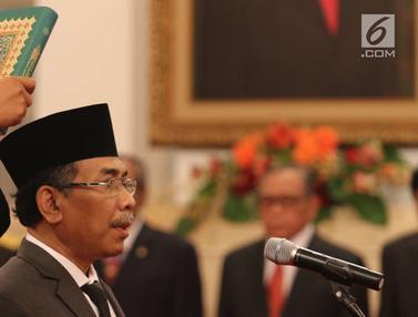 Presiden Jokowi Lantik Yahya Cholil Jadi Watimpres RI
