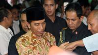 Presiden Joko Widodo saat berkunjung di salah satu pesantren di Sukoharjo