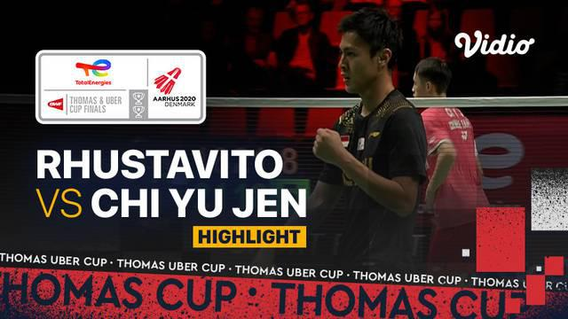 Berita video highlights pertandingan kelima Indonesia vs Chinese Taipei di Grup A Piala Thomas 2020, di mana Shesar Hiren Rhustavito kembali menjadi penentu kemenangan Tim Merah Putih, Rabu (13/10/2021) malam hari WIB.