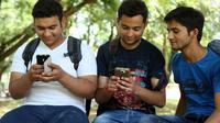 Pengguna smartphone Android di India. (Foto: Mashable)